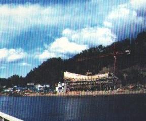 Chantier du Pélican de La Malbaie, été 1989