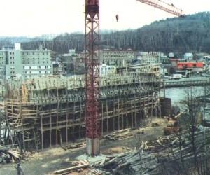 Chantier du Pélican de La Mabaie hiver 1990